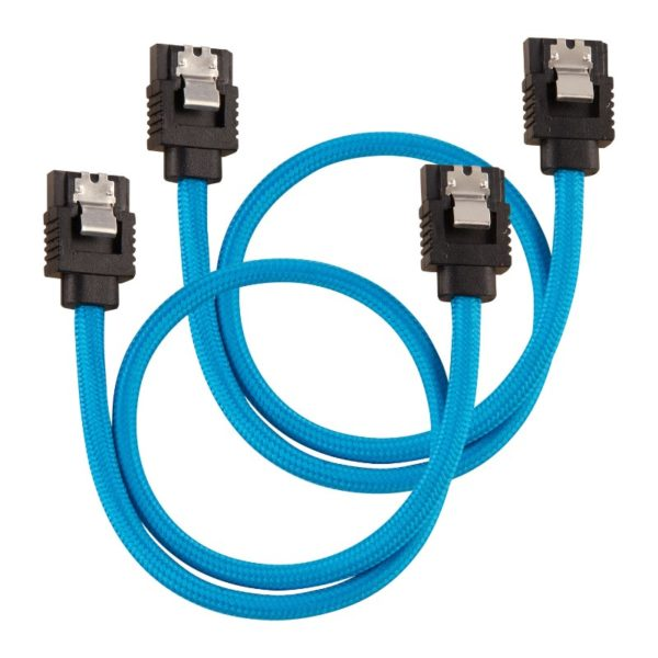 corsair sleeved sata cable 30cm blue a
