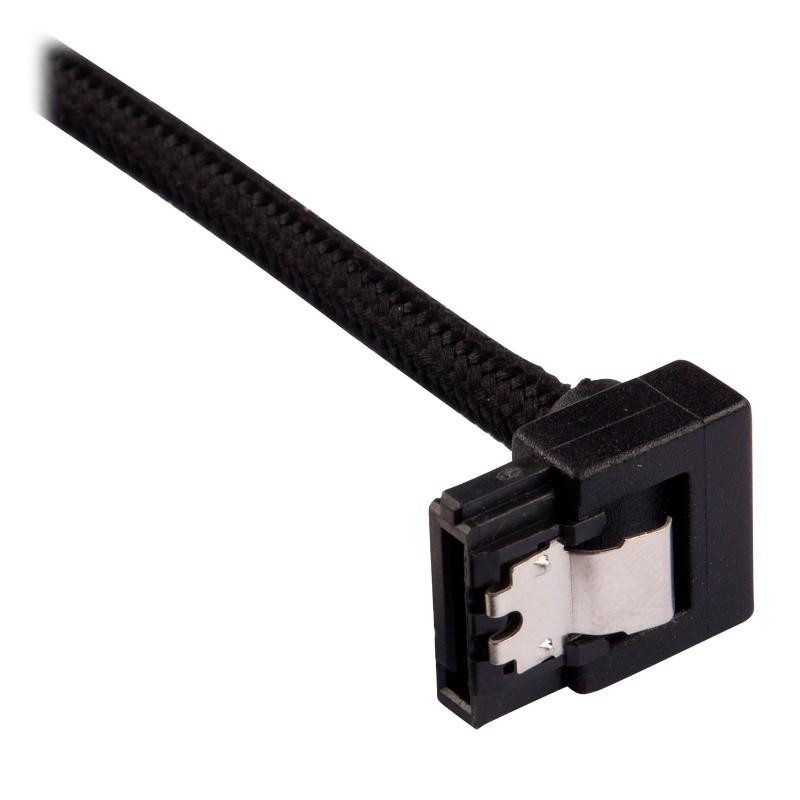 corsair sleeved sata cable 30cm l shape black c