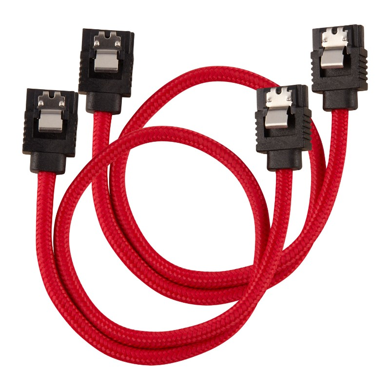 corsair sleeved sata cable 30cm red a