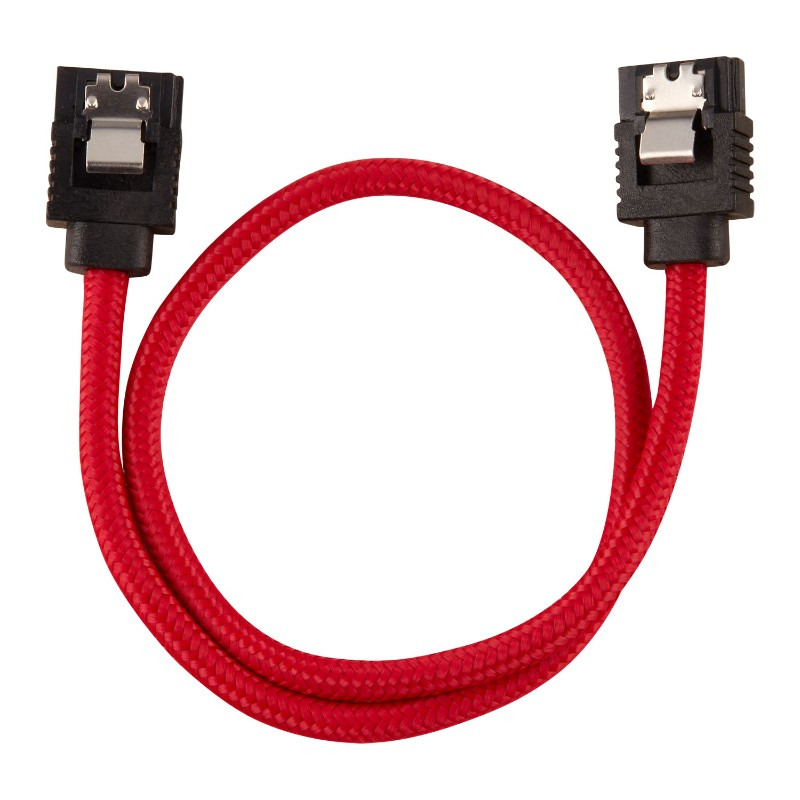 corsair sleeved sata cable 30cm red b