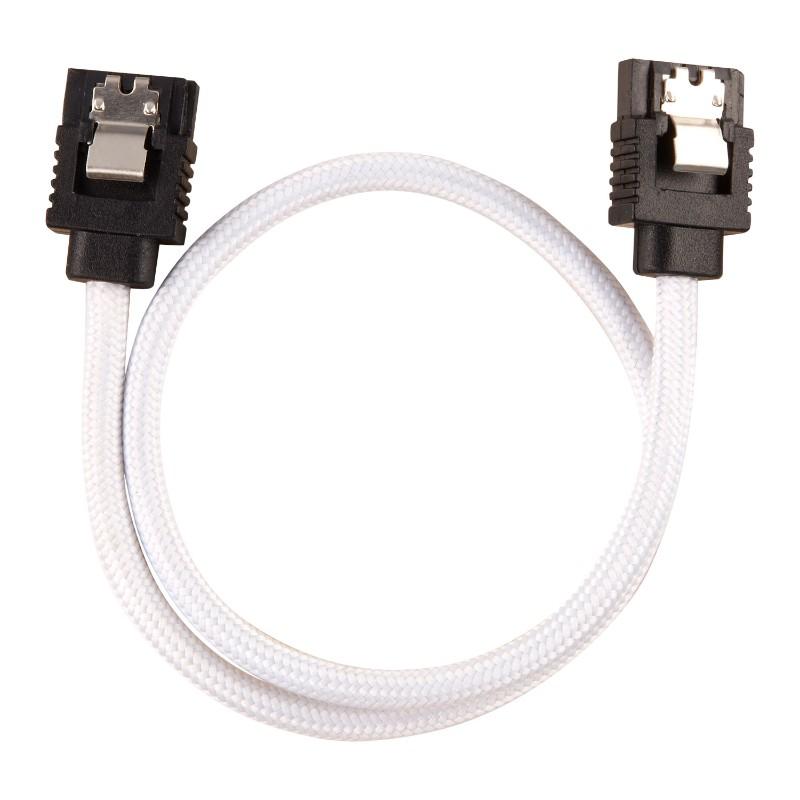 corsair sleeved sata cable 30cm white b