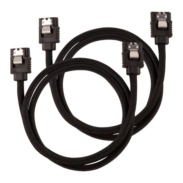 corsair sleeved sata cable 60cm black a