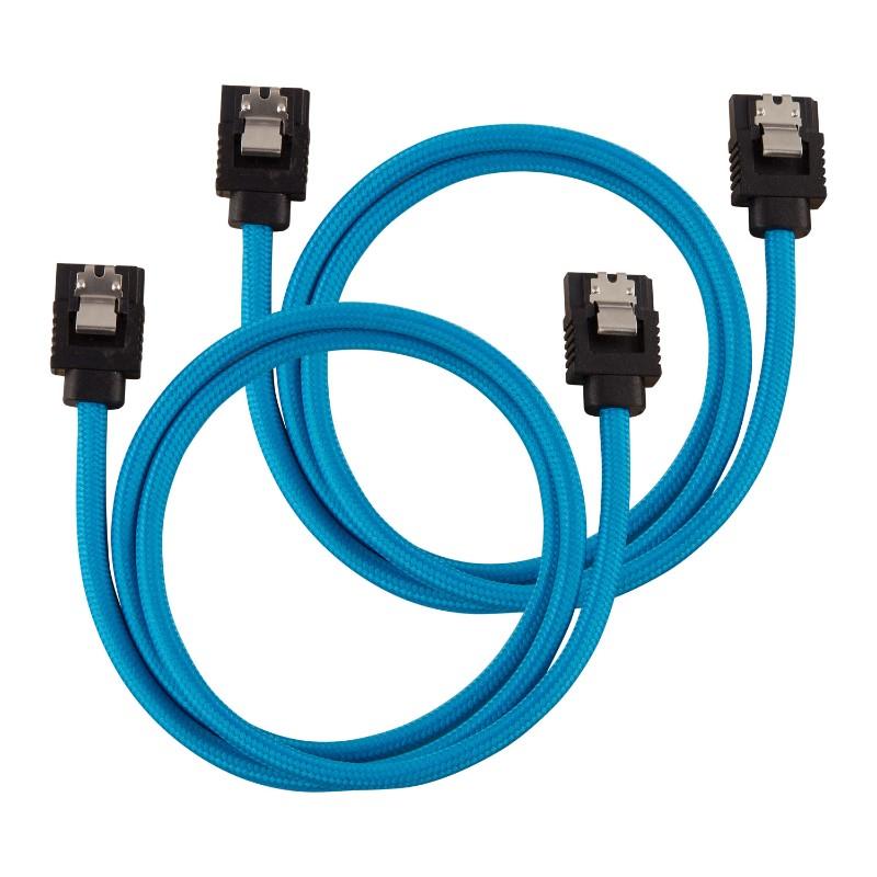 corsair sleeved sata cable 60cm blue a
