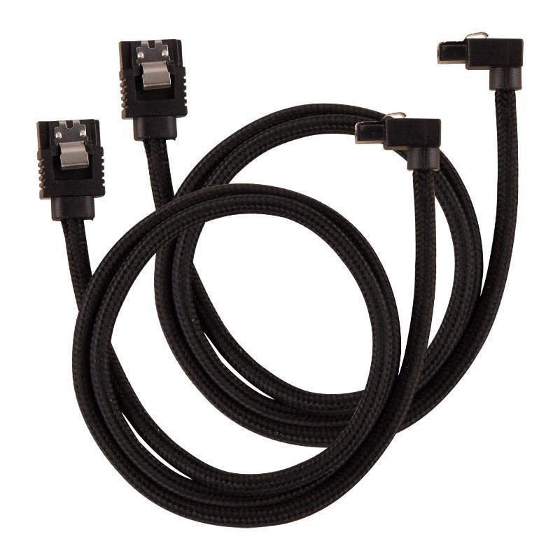 corsair sleeved sata cable 60cm l shape black a