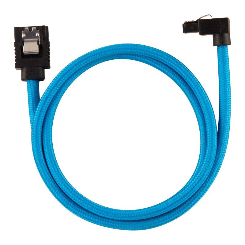 corsair sleeved sata cable 60cm l shape blue b
