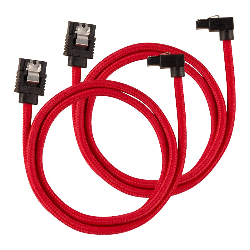 corsair sleeved sata cable 60cm l shape red a