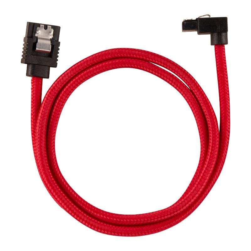 corsair sleeved sata cable 60cm l shape red b