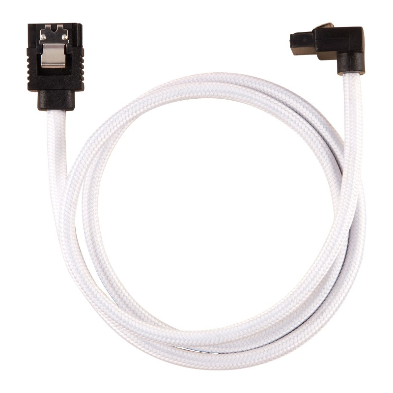 corsair sleeved sata cable 60cm l shape white b
