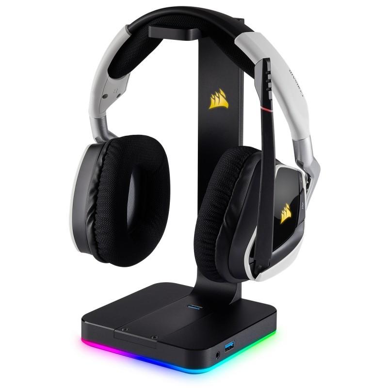corsair st100 rgb headphone stand b