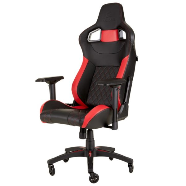 corsair t1 race gaming chair red a