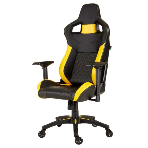 corsair t1 race gaming chair yellow a