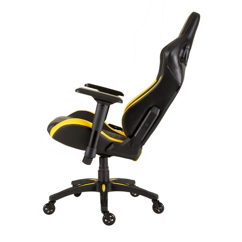 corsair t1 race gaming chair yellow d