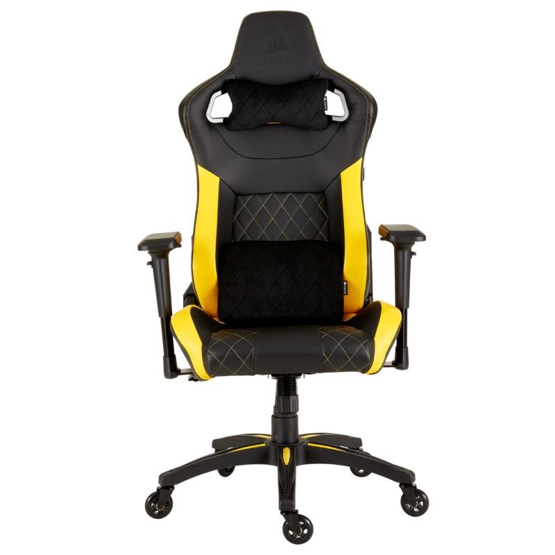corsair t1 race gaming chair yellow f