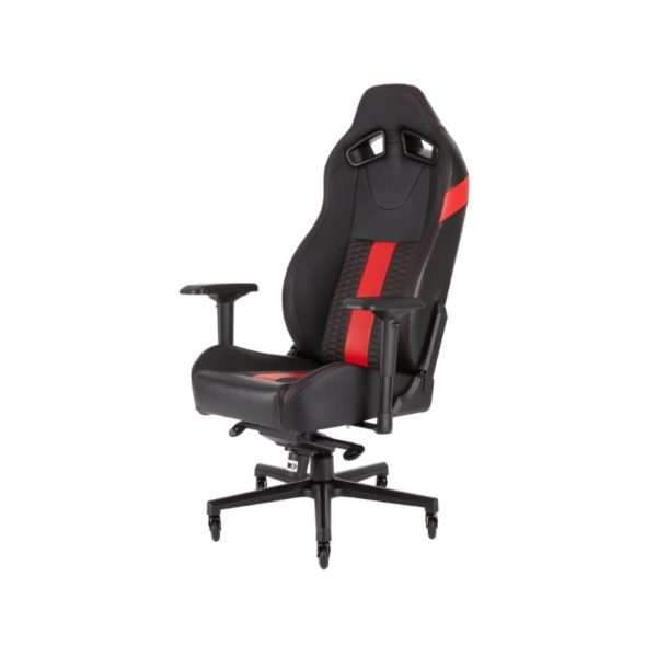 corsair t2 road warrior gaming chair black red a