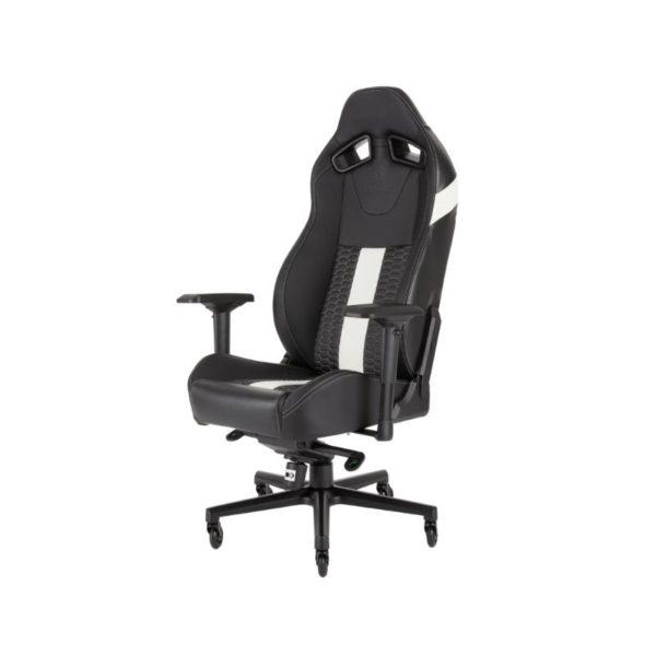 corsair t2 road warrior gaming chair black white a