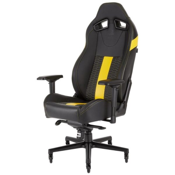 corsair t2 road warrior gaming chair yellow a