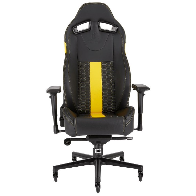 corsair t2 road warrior gaming chair yellow b