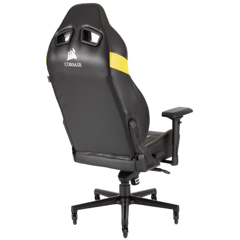 corsair t2 road warrior gaming chair yellow c