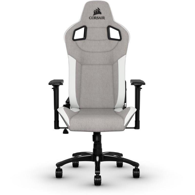 corsair t3 rush gaming chair grey white a