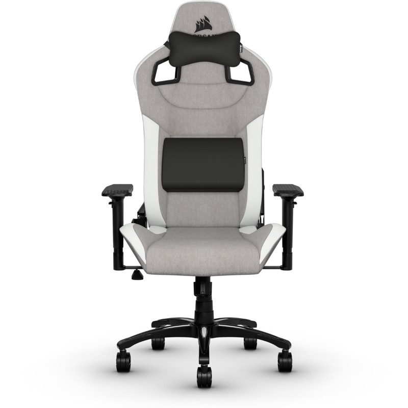 corsair t3 rush gaming chair grey white b