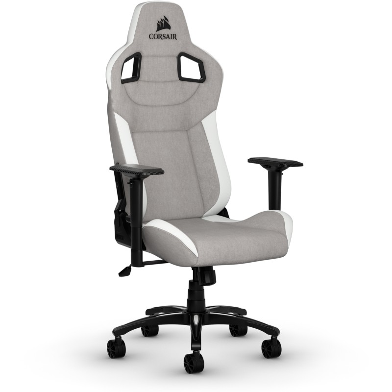 corsair t3 rush gaming chair grey white c
