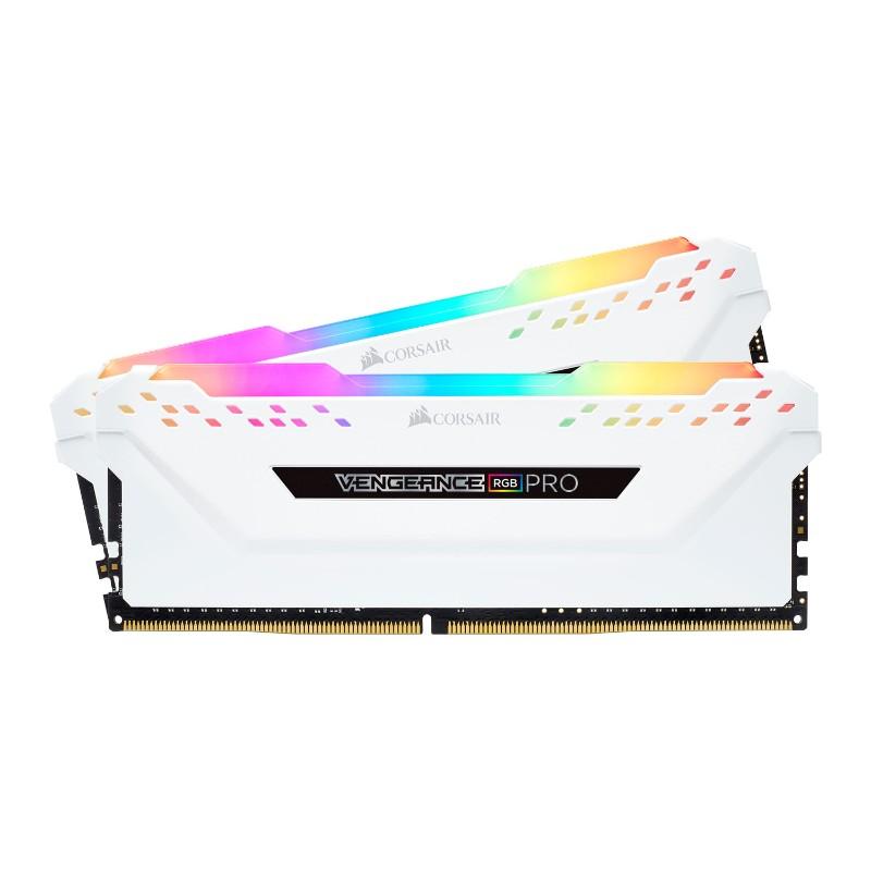 corsair vengeance rgb pro 16gb 2x8gb ddr4 3000mhz c15 memory kit white b