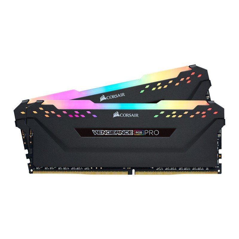 corsair vengeance rgb pro 32gb 2x16gb ddr4 3600mhz c18 memory kit black b