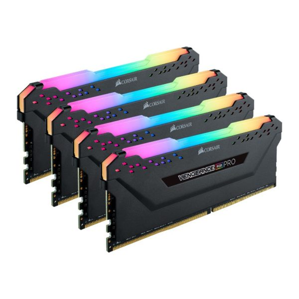 corsair vengeance rgb pro 32gb 4x8gb ddr4 2666mhz c16 memory kit black a