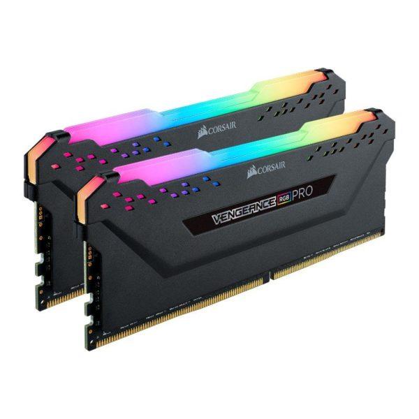 corsair vengeance rgb pro 64gb 2x32gb ddr4 3600mhz c18 memory kit black a