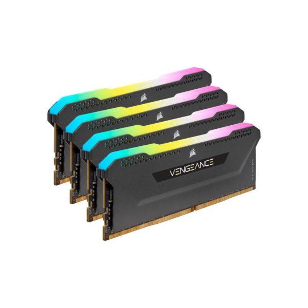 corsair vengeance rgb pro sl 128gb 4x32gb ddr4 3200mhz c16 memory kit black a