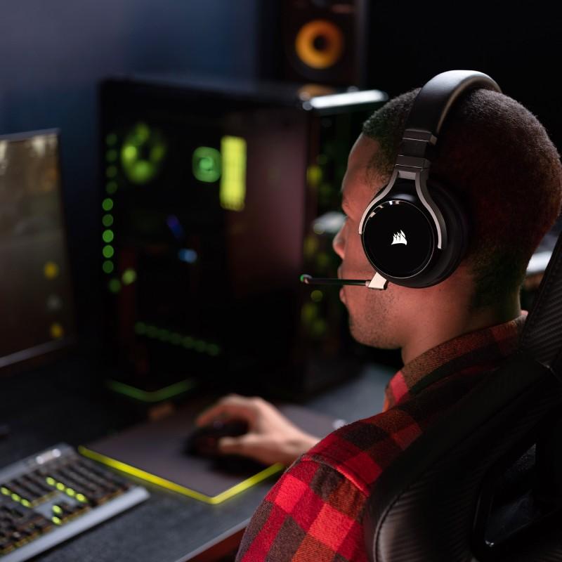 corsair virtuoso wireless gaming headset carbon d 2
