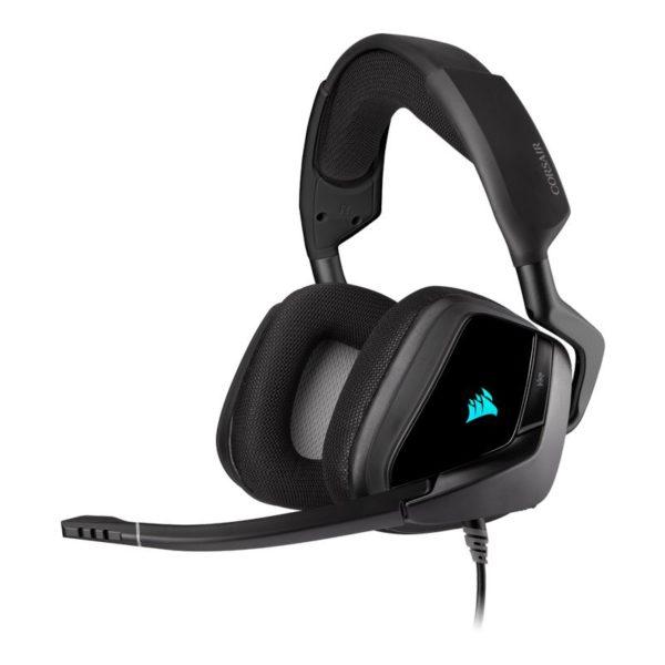 corsair void elite rgb usb gaming headset carbon a