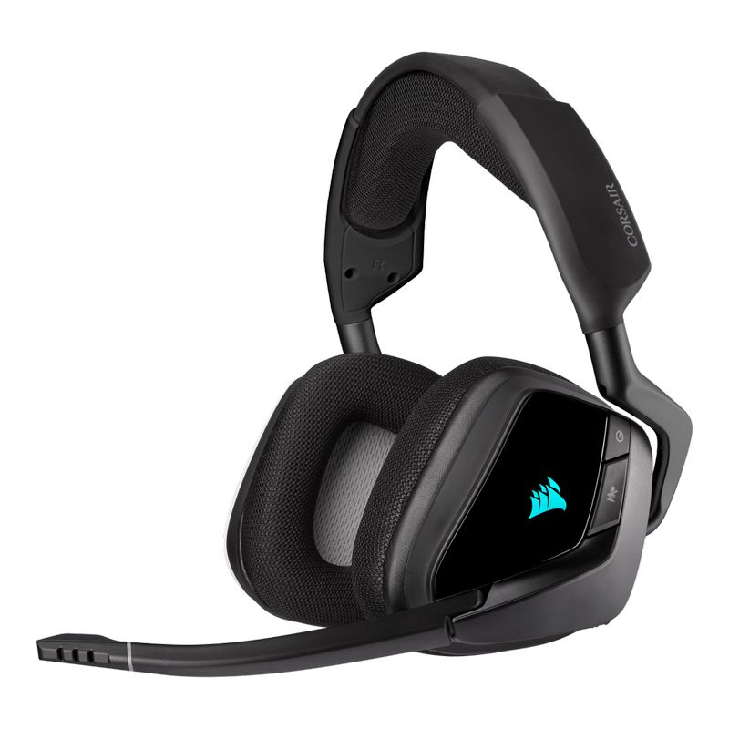 corsair void elite rgb wireless gaming headset carbon a