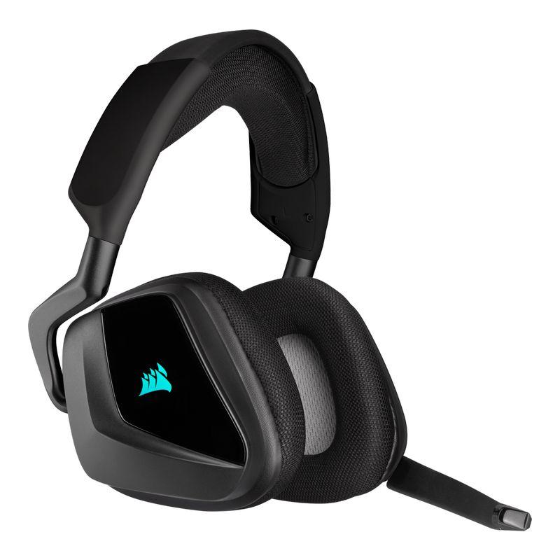 corsair void elite rgb wireless gaming headset carbon c