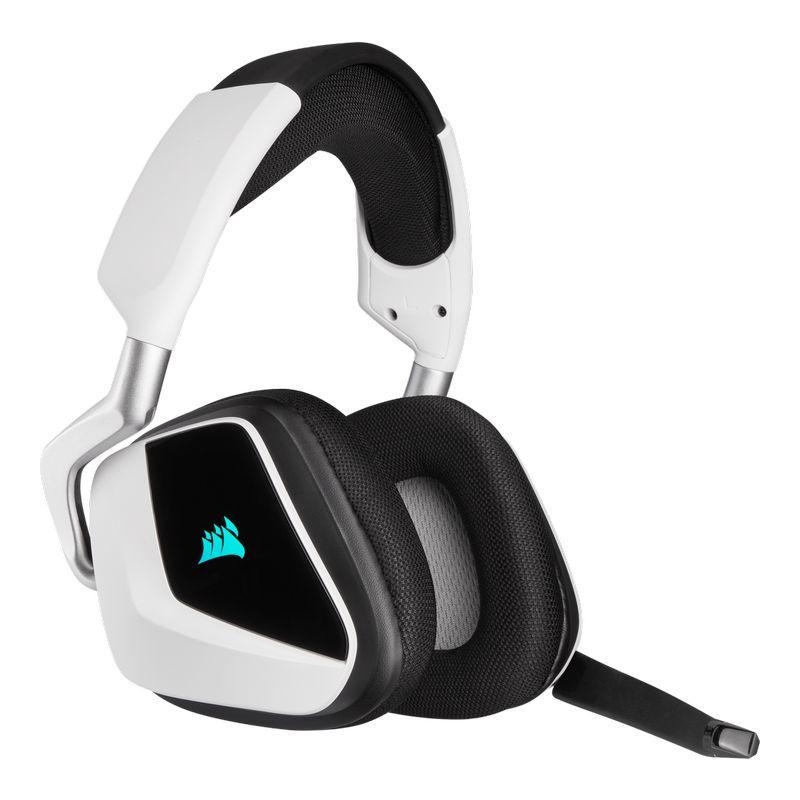 corsair void elite rgb wireless gaming headset white c