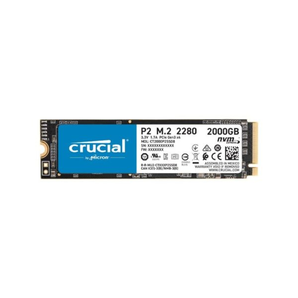 crucial p2 2tb m 2 pcie nvme solid state drive a