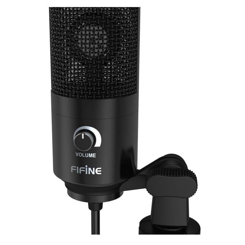 fifine k669b cardioid usb condensor microphone with tripod b 2