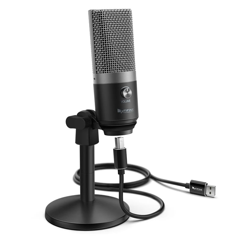 fifine k670b cardioid usb condensor microphone with stand a 2