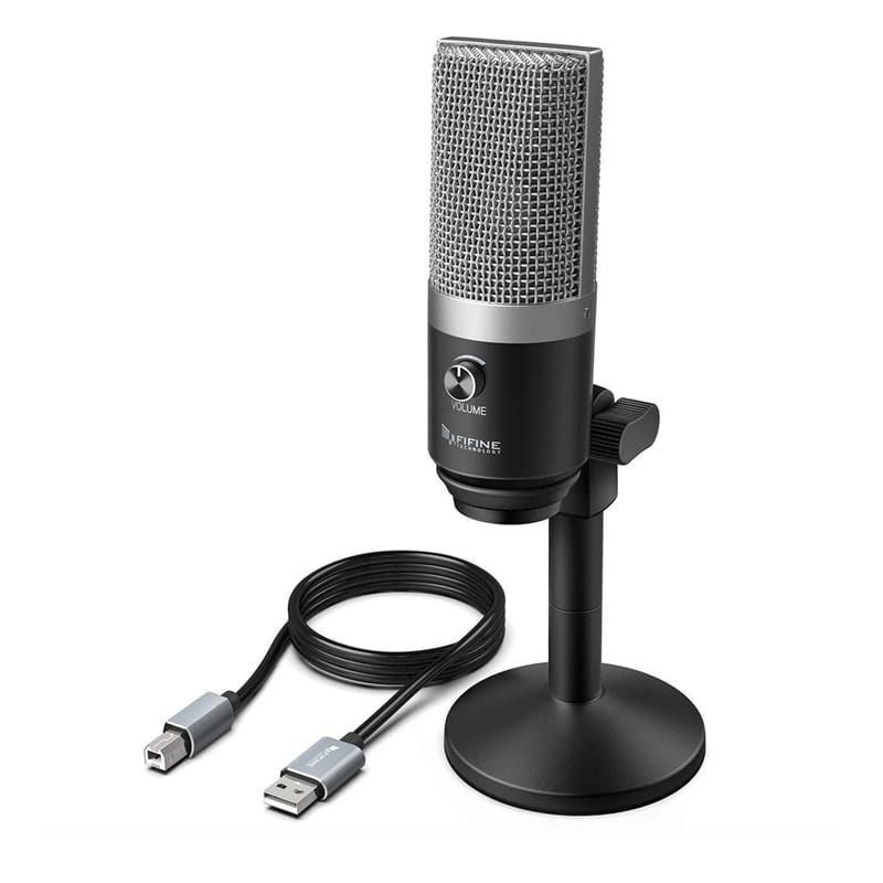 fifine k670b cardioid usb condensor microphone with stand b 2