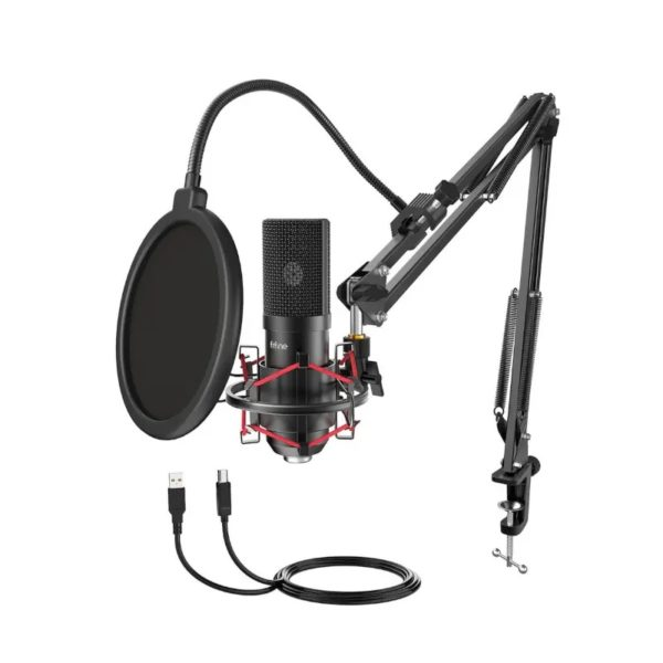 fifine t732 usb condensor microphone with arm desk mount kit a