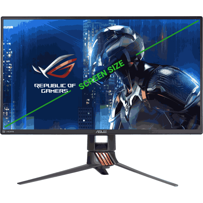 gaming monitor screen size