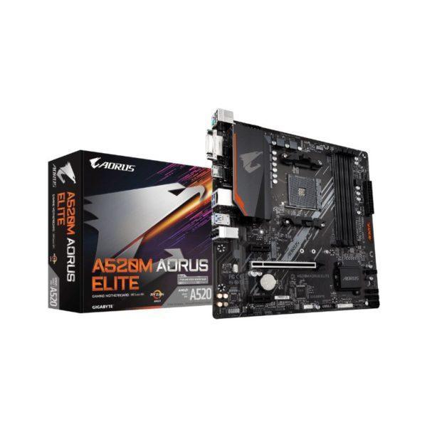 gigabyte a520m aorus ryzen am4 motherboard a