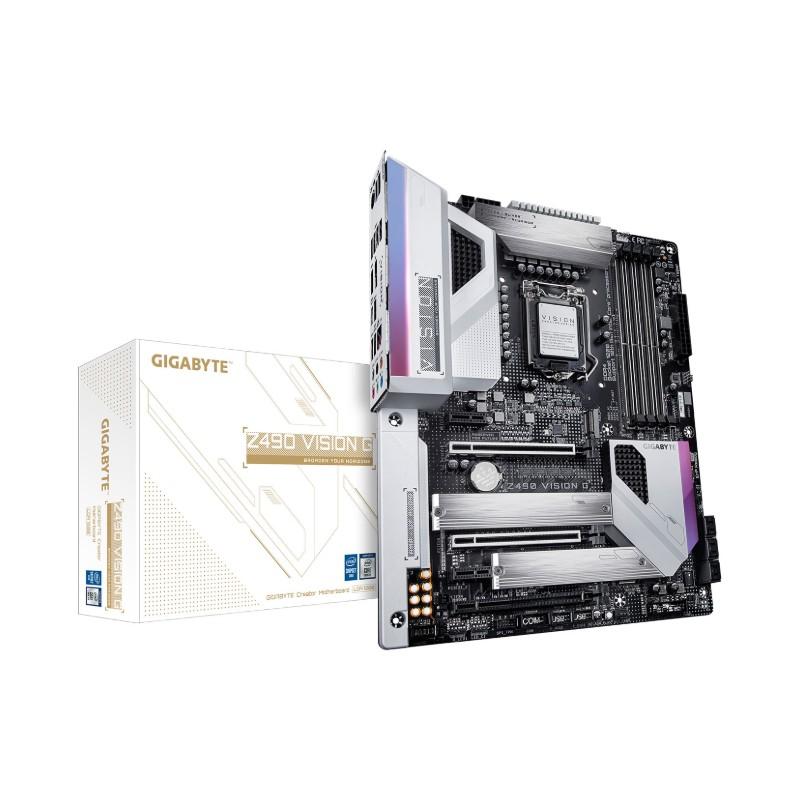 gigabyte z490 vision g intel 10th gen motherboard a