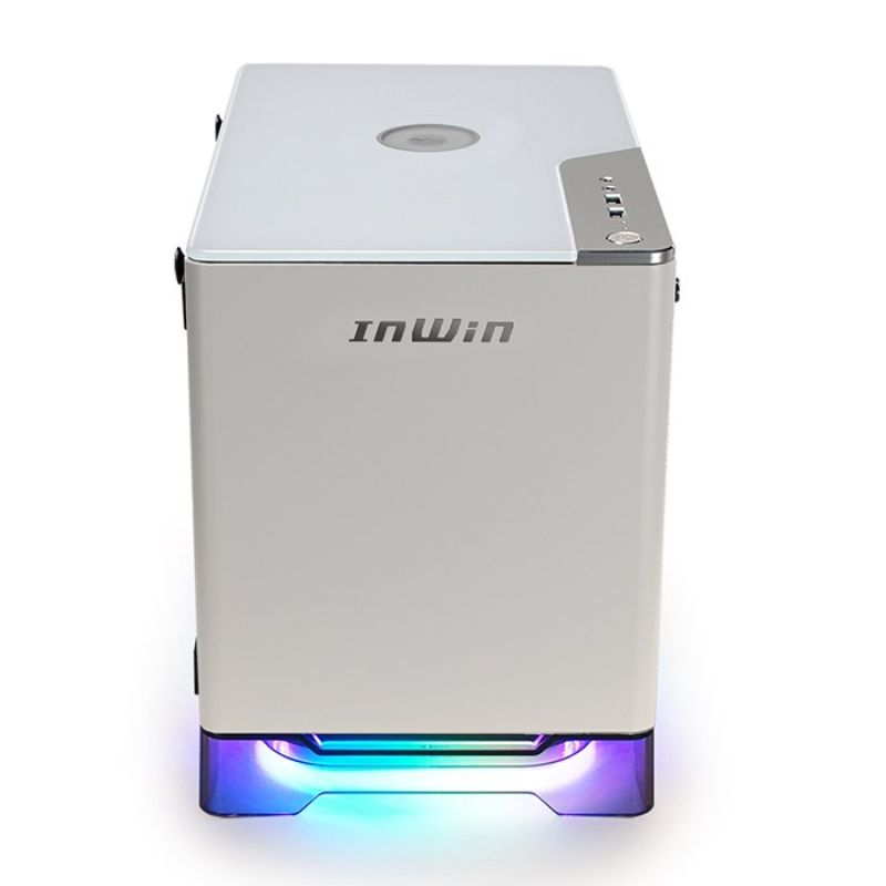 inwin a1 plus white mini itx case b