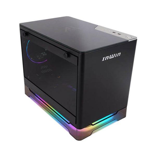inwin a1 prime mini itx rgb gaming case with 750w psu black a