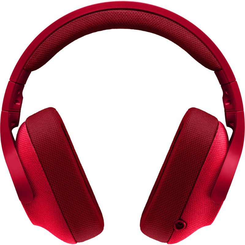 logitech g433 gaming headset red b