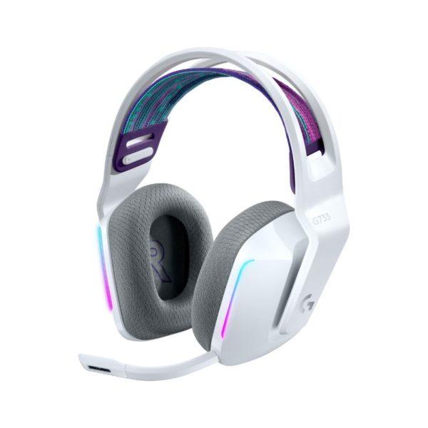 logitech g733 wireless gaming headset white a