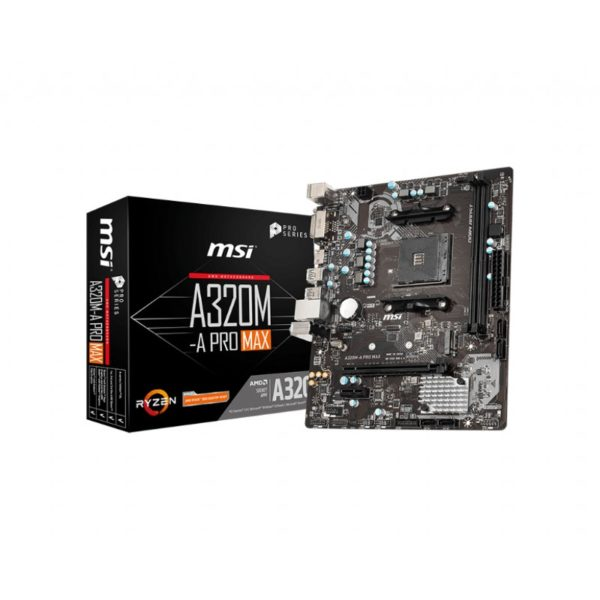 msi a320m a pro max am4 motherboard a