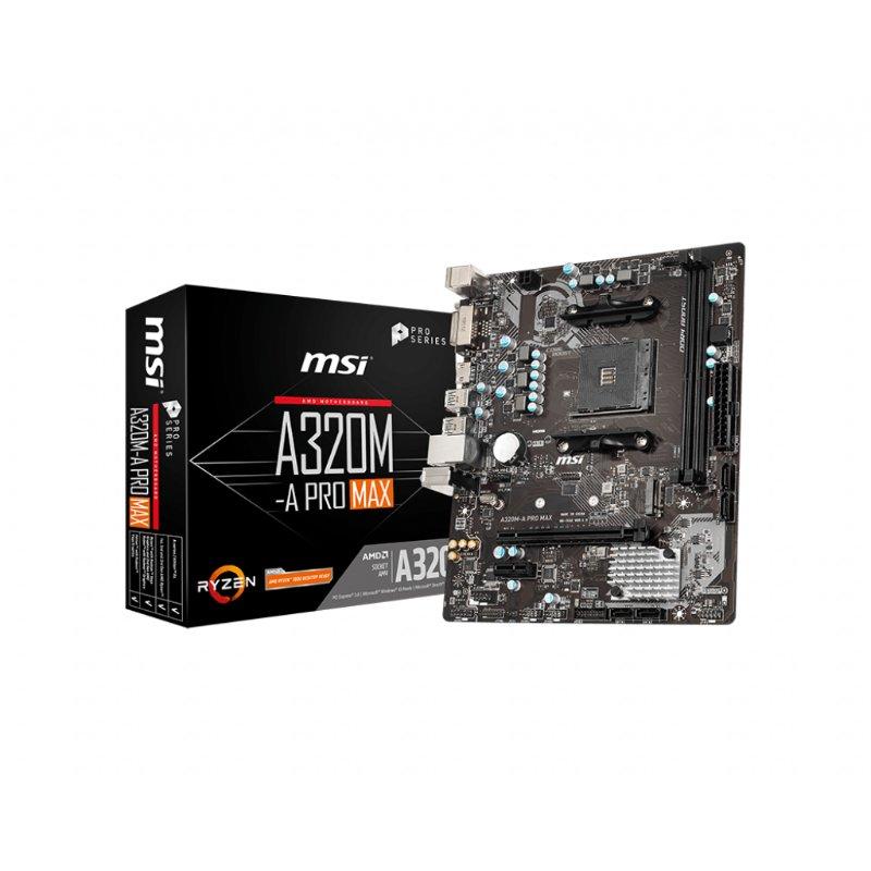 msi a320m a pro max am4 motherboard a