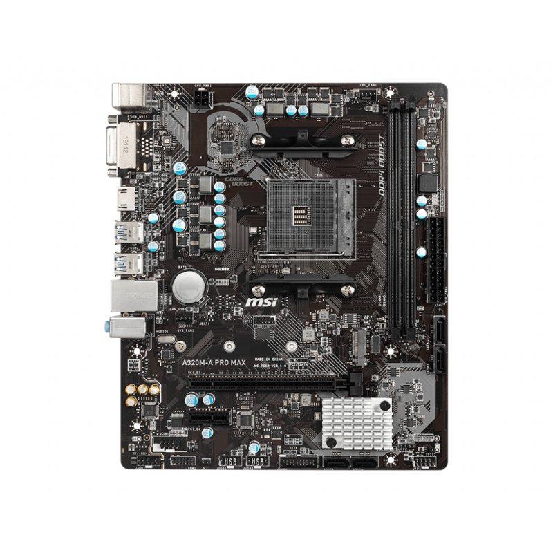 msi a320m a pro max am4 motherboard b